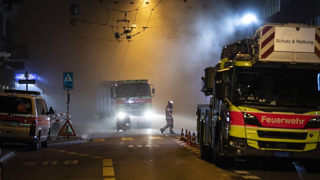 Der Brand hielt die Feuerwehr die ganze Nacht auf Trab.