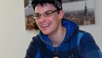 Der 28-jährige Simon Studer aus Solothurn liebt Hip-Hop-Musik und die Arbeit am Computer. Hansjörg Sahli