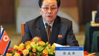 Bild von Jang Song Thaek  vom 14.  August 2012 (Archiv)