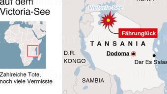 Beim Fährunglück auf dem Victoriasee sind am Freitag mindestens 100 Menschen ums Leben gekommen.