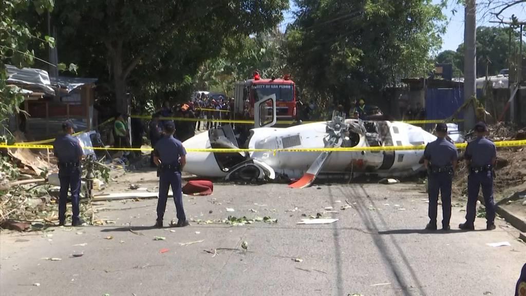 Acht Verletzte bei Helikopterabsturz auf den Philippinen