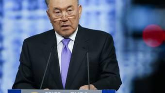 Präsident Nursultan Nasarbajew erklärte, es handle sich um Terroranschläge.(Archiv)