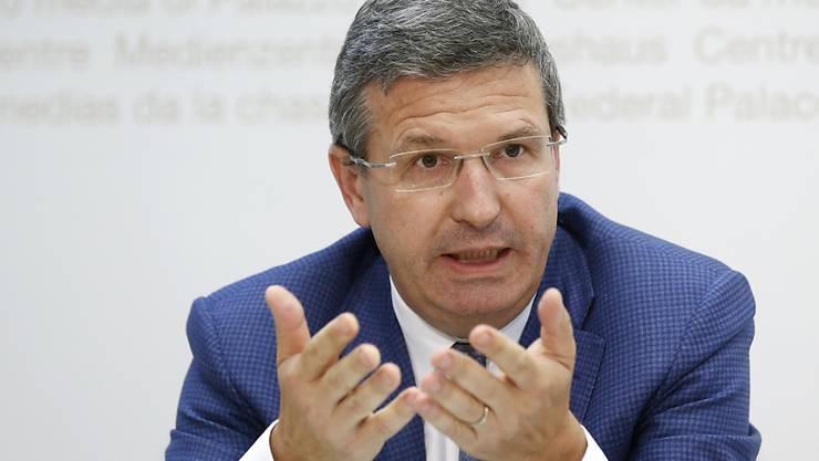 """""""Es war uns wichtig, unsere Mitglieder zu diesem bedeutenden Thema zu befragen"""", sagte der Waadtländer Arbeitgeberpräsident Christophe Reymond. (Archiv)"""