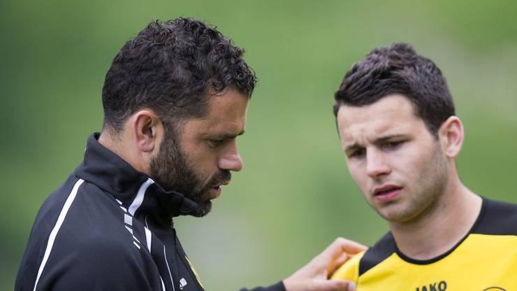Bei den Young Boys spielt Steffen unter Trainer Forte.