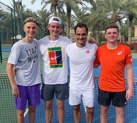 Ried, Kym und Stricker folgen dem Beispiel von Roger Federer.