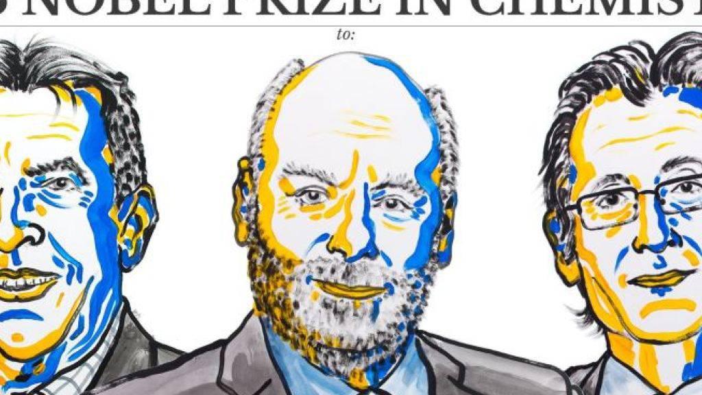 Jean-Pierre Sauvage, Sir J. Fraser Stoddart und Bernard L. Feringa teilen sich den diesjährigen Chemie-Nobelpreis.
