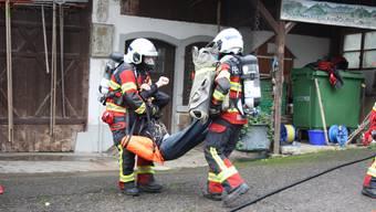 Hauptübungen der Feuerwehr in Bergdietikon