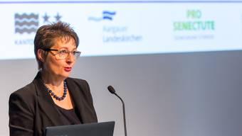 Franziska Roth am Tag der älteren Menschen im vergangenen September in Aarau – auch die Betreuung von Betagten ist ein Thema im Bericht zur Integrierten Versorgung.