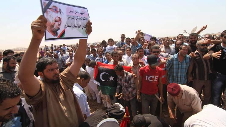 Protestierende in Libyen