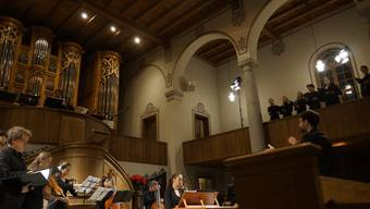 """Das junge Ensemble """"Cardinal Complex"""" sorgte in der Reformierten Kirche in Grenchen für festliche Abendstimmung."""