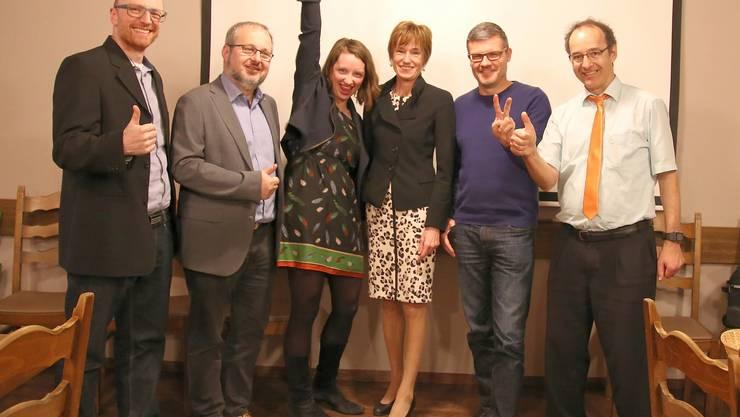 v.l.n.r. Daniel Käppeli, Oliver Hunziker, Christina Bachmann-Roth, Ruth Humbel, Harry Lütolf, Herbert Marchesi
