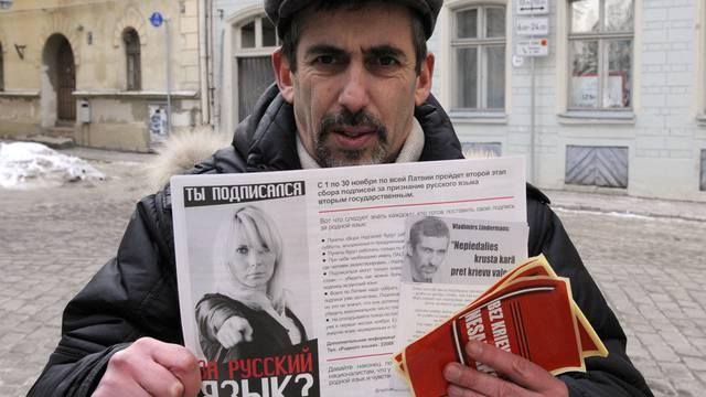Unterstützt des Referendum: Ein Lette, der zur russischen Minderheit im Lande gehört