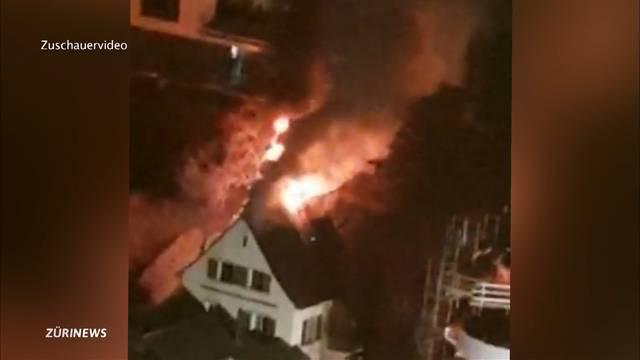 Brand verwüstet Einfamilienhaus in Nussbaumen