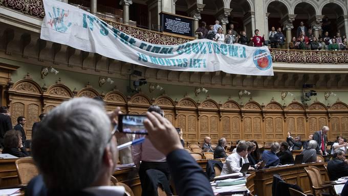 Klimaprotest im Bundeshaus