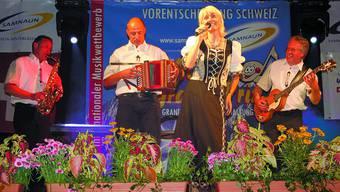 Wally Schneider: Die 49-jährige Koppigerin vertritt im Oktober mit der Gruppe «Bumerang» die Schweiz am 17. «Alpen Grand Prix» in Meran. ZVG