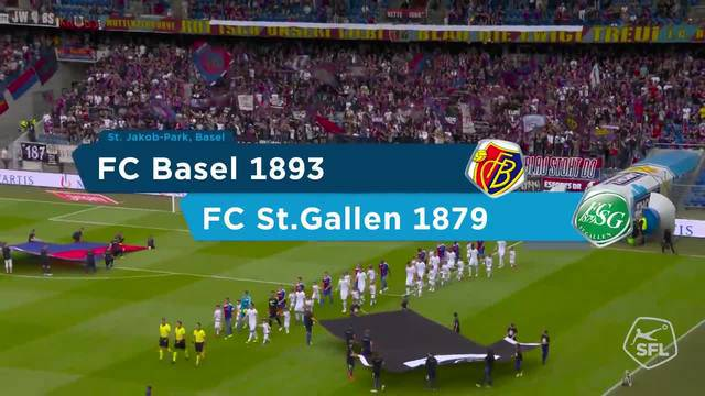 Super League, 2018/19, 1. Runde, FC Basel – FC St. Gallen, Highlights