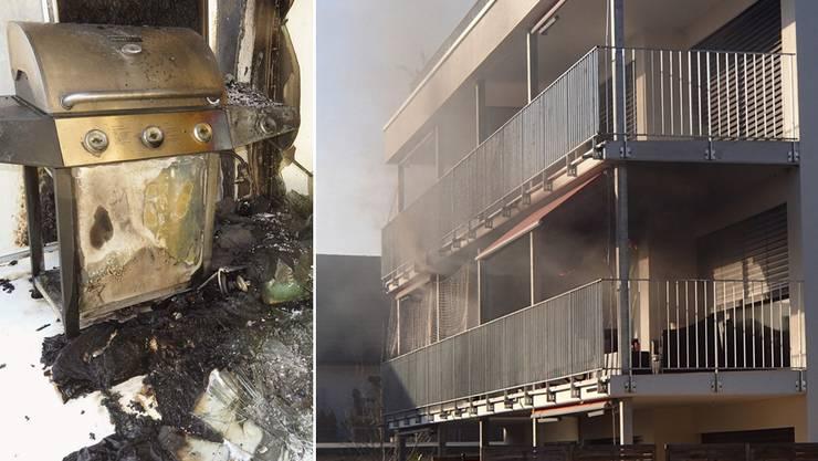 Brandausbruch auf Balkon wegen Gasgrill