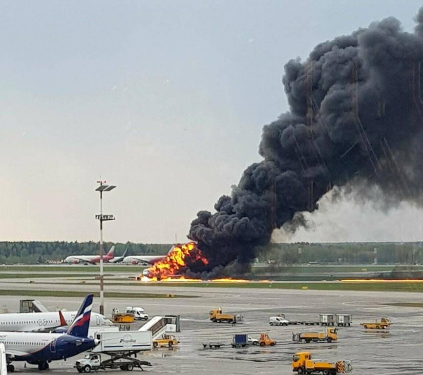 Flugzeugunglück in Moskau (© Keystone)