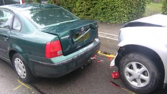 Auf den Strassen wurden im vergangenen Jahr 9 Prozent weniger Unfälle als 2010 registriert. (Symbolbild: Auffahrunfall in Therwil)