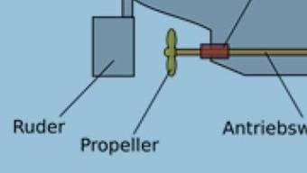 Materialschaden oder Montagefehler: Die Antriebswelle und der Propeller der MS Mythen versanken im Vierwaldstättersee und liessen Wasser in das Schiff eindringen.