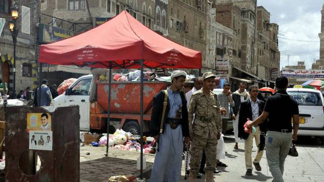 Rebellen kontrollieren die Strassen der Hauptstadt Sanaa