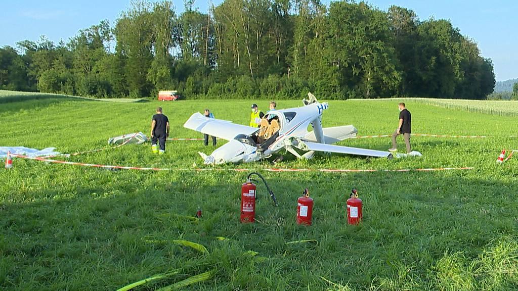 Flugzeug beim Flugplatz Birrfeld abgestürzt