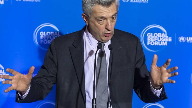 Filippo Grandi, Uno-Hochkommissar für Flüchtlinge, zog am Schluss des Genfer Flüchtlingsforums eine zufriedenstellende Bilanz.