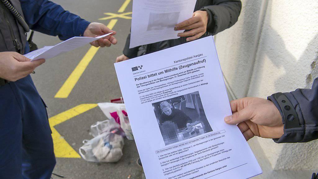 Neben Flugblättern setzt die Aargauer Staatsanwaltschaft auf der Suche nach Hinweisen auch auf die Sendung «Aktenzeichen XY - ungelöst» (Archiv).