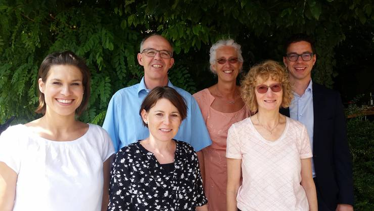 Der Leiterkreis der BewegungPlus Grenchen mit ihrem neuen Pfarrer. V.l.n.r.: Amaris Thüring, Markus Ingold, Claudia Dahinden, Ursula Ingold, Therese Berger, Christian Ringli.