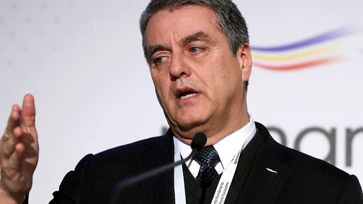 WTO-Generaldirektor Roberto Azevêdo spricht von Unsicherheiten im weltweiten handel. (Archivbild)