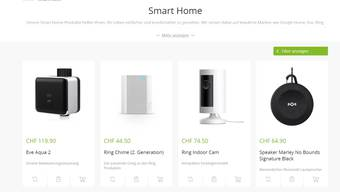 Der Shop bietet unter anderem Smartsysteme an.