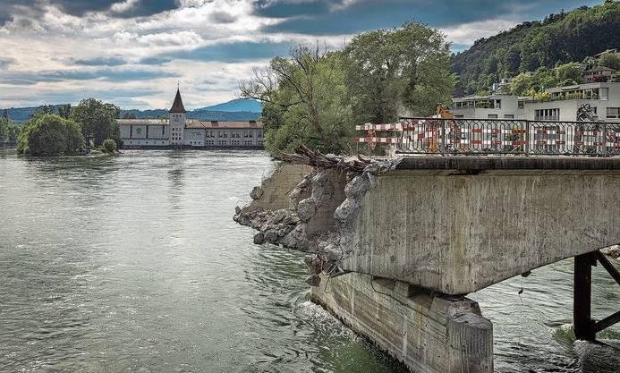 71 Jahre lang hat diese Brücke Aaraus Stadtbild mitgeprägt.