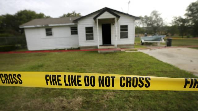 Einer der Tatorte der Bluttat von Terrell in Texas
