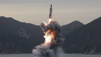Nordkorea hat trotz aller internationaler Warnungen erneut eine Rakete abgeschossen. (Archivbild)