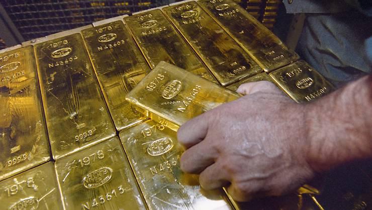 Weniger Gold, mehr Papier - die SNB hat den Anteil Gold in den letzten Jahren zurückgefahren. (Symbolbild).