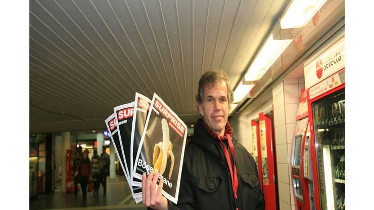 «Mein Traumberuf ist Prediger»: Markus Thaler verkauft in der Bahnhofsunterführung die «Surprise».