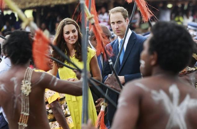 Kate und William in Honiara