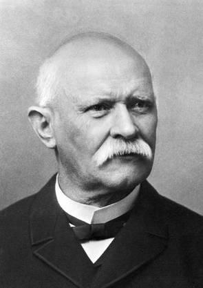 Portrait vom Schweizer Bundesrat Emil Welti, der am 8. Dezember 1866 in den Bundesrat gewählt wurde und am 31. Dezember 1891 zurücktrat.