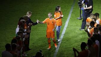 Wesley Sneijder erhielt im Spetember 2018 in Amsterdam einen würdigen Abschied aus der Nationalmannschaft