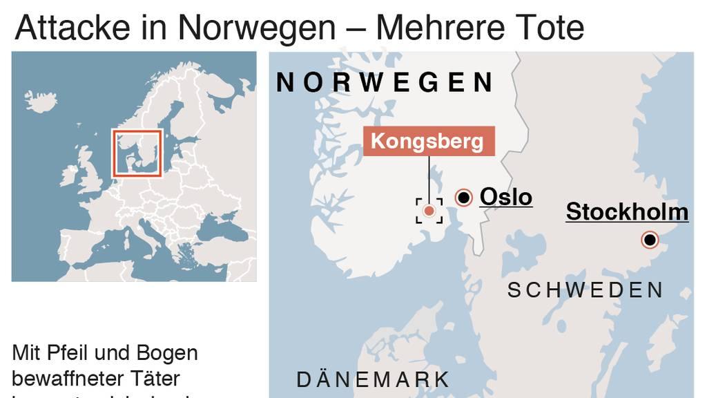 Fünf Tote bei Angriff in Norwegen