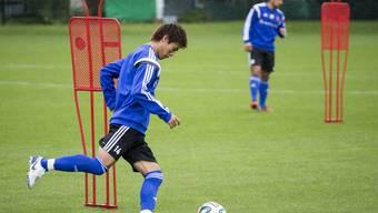 Morgentraining des FC Basel mit Kakitani