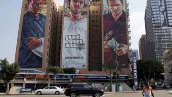 """Werbung für das Videospiel """"Grand Theft Auto V"""" (Archiv)"""