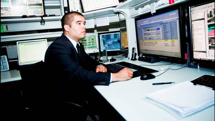 Martin Eerhard, Sicherheitschef im Casino Baden, hat früher für die Kripo in Buenos Aires gearbeitet. Foto: Bohrer