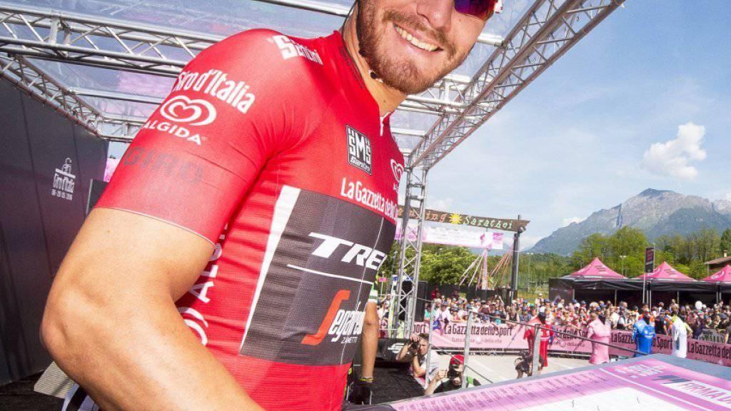 Der italienische Sprinter Giacomo Nizzolo im Mai 2016 während dem Giro d'Italia