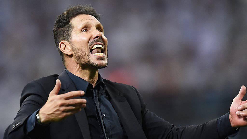 Diego Simeone schenkt sein Engagement weiter Atletico Madrid