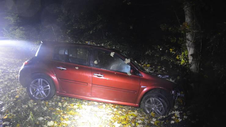 Der Autolenker kollidierte bei Boningen mit einem Baum.
