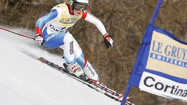 Dritter Podestplatz der Saison für Lara Gut im Super-G von Cortina