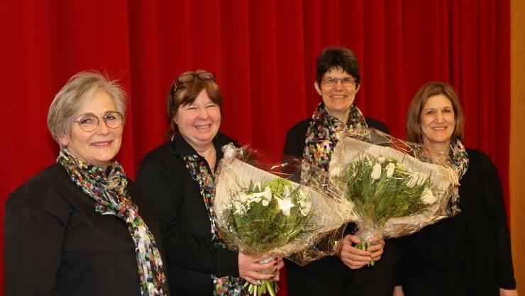 v.l.n.r. Doris Meister, Silvia Guldimann, Ursula Rutschi, Sibylle Lenze