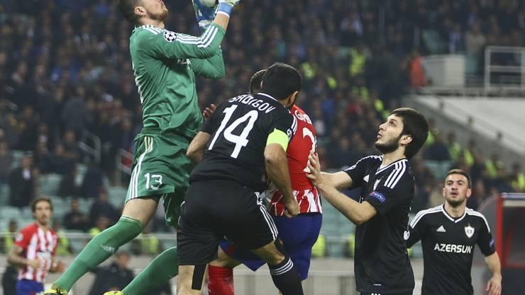 Karabachs Goalie Ibrahim Sehic liess sich nicht bezwingen