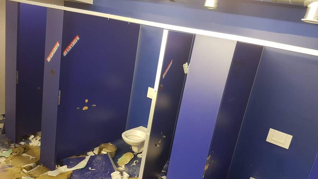 Swissporarena: Chaoten zerstören WC-Anlagen
